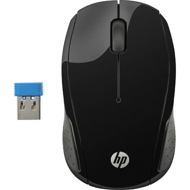 Mouse Sem Fio 1000 DPI Preto HP 200 - Loja Dado Digital