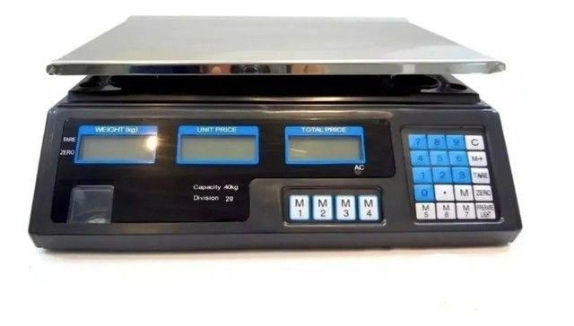 Balança Eletrônica Digital 40kg Alta Precisão/bateria recarregável - Entrega grátis - Foto 4