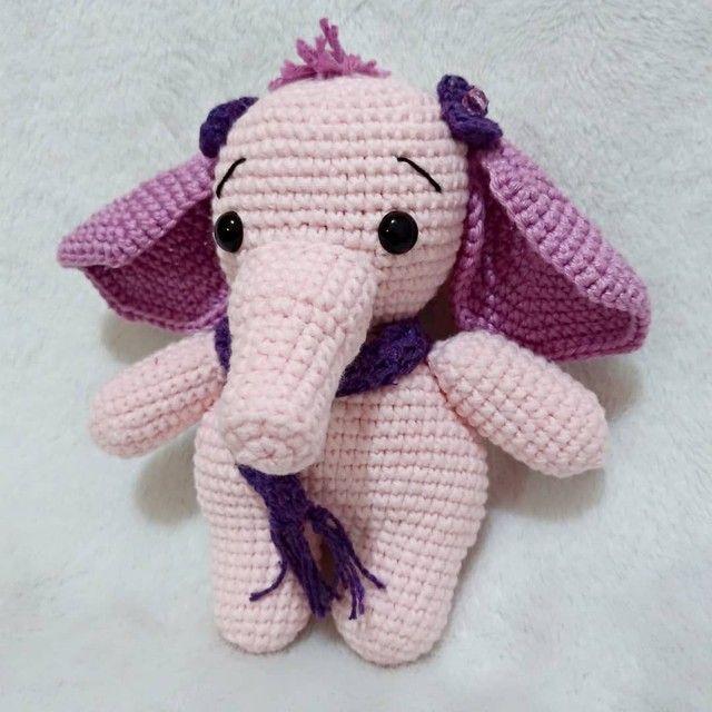 Elefantinho amigurumi - sob encomenda  - Foto 3