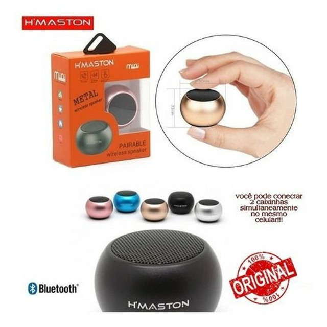 Mini Caixa de Som Bluetooth 3w H'maston Metal