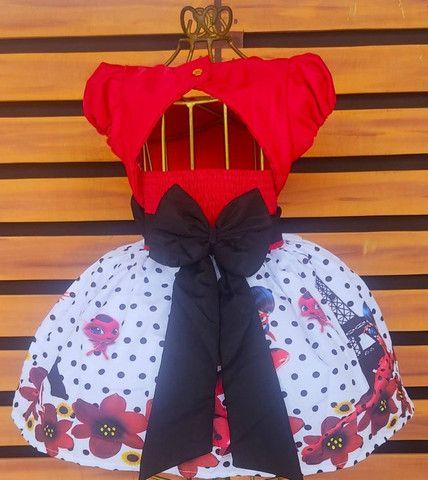 Vestido Ladybug Tamanho 8 - Foto 2