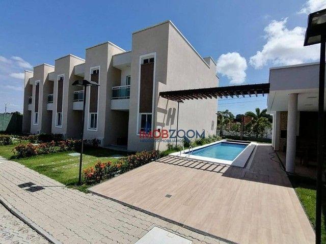 Casa com 3 dormitórios à venda, 97 m² por R$ 319.000,00 - Jacunda - Aquiraz/CE - Foto 2