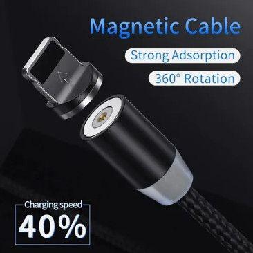 Cabo Carregador Magnético 3 Em 1 Tipo C iPhone Micro Usb * - Foto 5