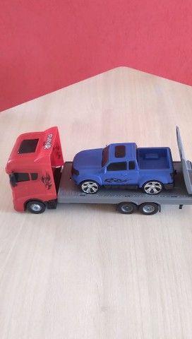 Caminhão + Camionete de Brinquedo - Foto 2