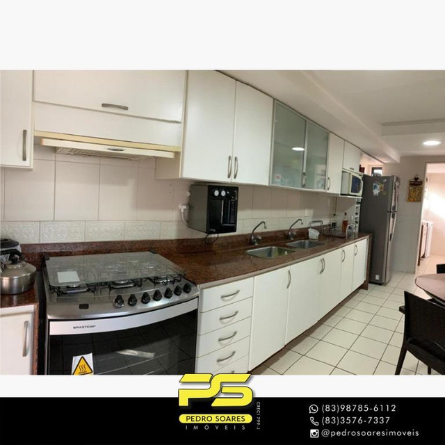 (MOBILIADO) Apartamento com 3 dormitórios para alugar, 166 m² por R$ 6.000/mês - Tambaú -  - Foto 10