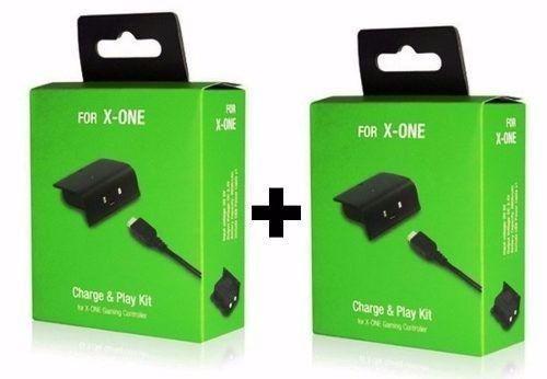 Kit 2 Baterias E Carregadores, de 5.800Mah, P/ Controle Xbox One