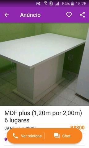 Mesa MDF plus para 6 lugares