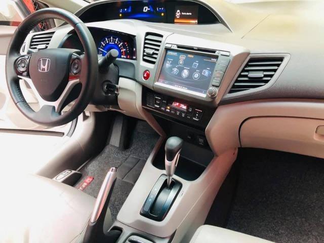 Honda Civic 2014 lxr automático + kit multimídia, carro impecável !!! - Foto 14