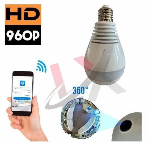 Lâmpada Led com Camera 360º Wifi App próprio (IPC360) para iPhone e Android