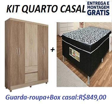 Preço Excelente Kit Quarto Casal (Unibox+Guarda Roupa 6 Portas)Novo Apenas 849,00