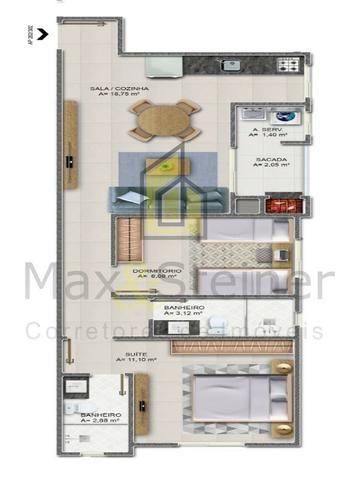 G*Floripa*Apartamento 2 dorms, 1 suíte.Acabamento classe A. * - Foto 11