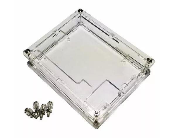 COD-AM3 Case Gabinete Box Caixa Arduino Uno R3 Acrilico Transparente - Foto 2