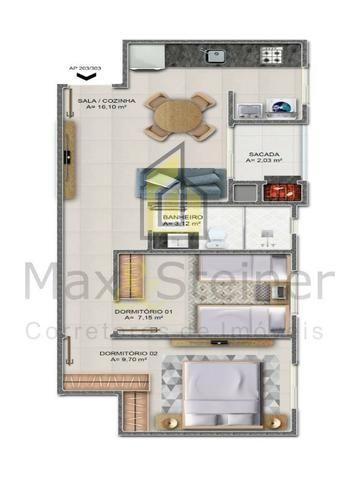 G*Floripa*Apartamento 2 dorms, 1 suíte.Acabamento classe A. * - Foto 12