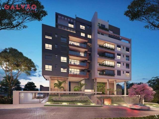 Apartamento com 2 dormitórios à venda, 88 m² por R$ 642.425,79 - Alto da Rua XV - Curitiba - Foto 3