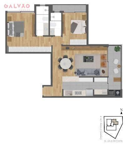 Apartamento com 2 dormitórios à venda, 85 m² por R$ 834.000,00 - Bigorrilho - Curitiba/PR - Foto 12