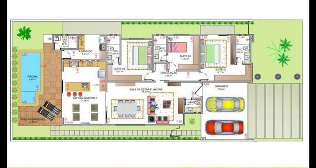 Condomínio Belvedere casa térrea com 3 suítes e 197 m² imóvel novo - Foto 16