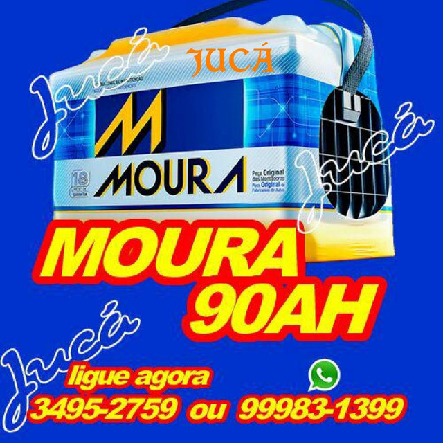 BATERIA MOURA 90 AH!! HILUX TRITON. MELHOR PREÇO DA CIDADE