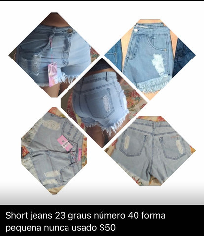 Shorts jeans 23 graus