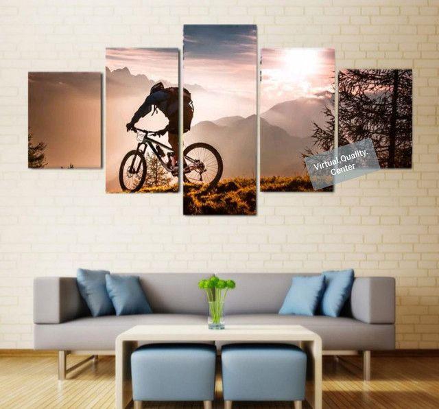 Quadro Mosaico Decorativo Personalizado Mosaico 5 Peças - Ciclismo - Foto 4