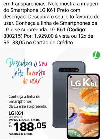 Vendo ou troco novo LG k61 128g tem fone e documento - Foto 3