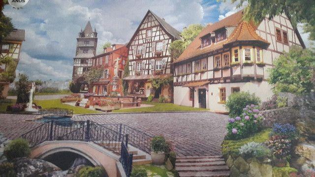 Quadro - Quebra-cabeça Vila Europeia para fazer quadro - Foto 6