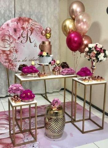 Kit mesas de decoração para festas.  - Foto 2