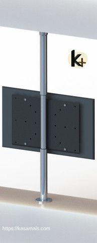 Suporte TV 360º _ Fixação Móvel e Teto - Inox Brilhante - Regulagem Altura de 1,45m a 2m - Foto 2