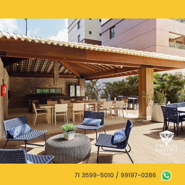 Apartamentos em 115m² com 3 suítes, 2 vagas, vista mar - Patamares  - Foto 8