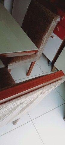 Conjunto Mesa LJ Moveis PIETRA 4 Cadeiras 90 X 90cm - Foto 3