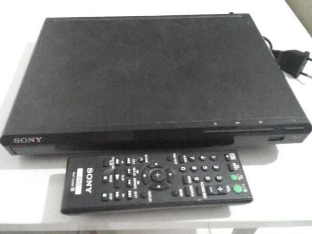 Dvd Sony Dvp-Sr370 Com Usb Bivolt - Preto - Slim<br><br>