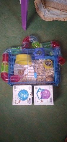Quero vender esta gaiola para hamster com 2 bolas