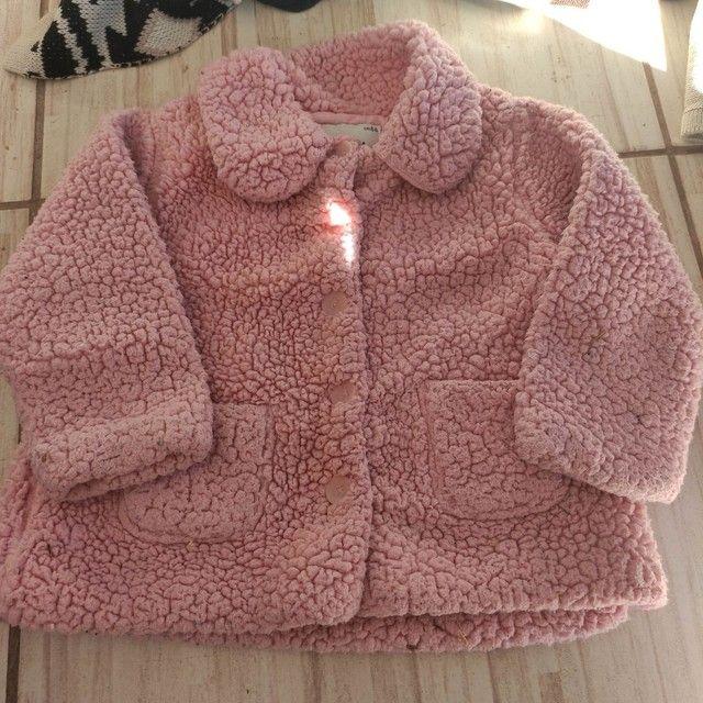 Casaco de pelúcia menina 1 ano