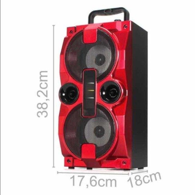 Caixa de Som Bluetooth S/ Fio Grasep C/ Rádio, PEN DRIVE e Controle 1500w<br> - Foto 3
