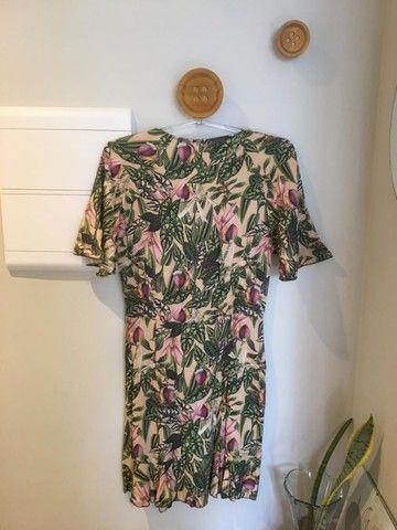 Vestido estampado floral da Ellus - TAM 38 - usado - Foto 2