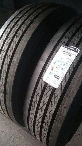 pneus novos rodas caminhão 275 295 - Foto 3
