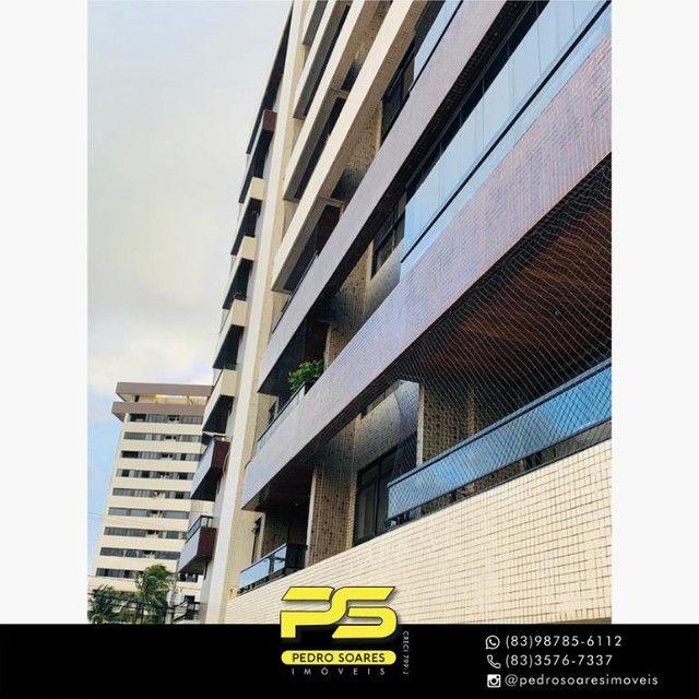 (MOBILIADO) Apartamento com 3 dormitórios para alugar, 166 m² por R$ 6.000/mês - Tambaú -
