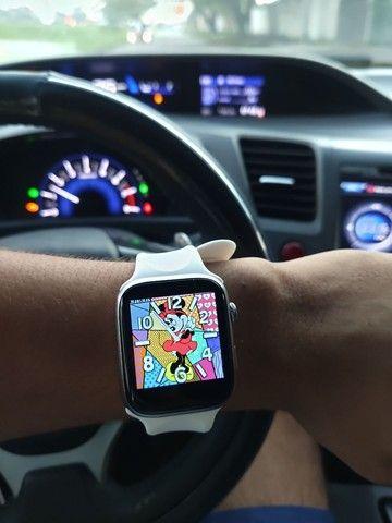 Smartwatch Pulseira inteligente Completa 44mm Bluetooth - Foto 4