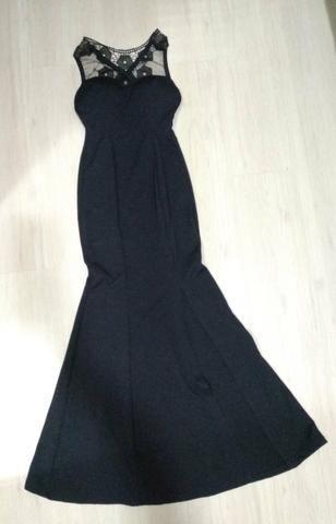 Vestido preto longo - Foto 2