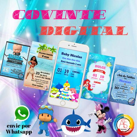 Convite digital animado