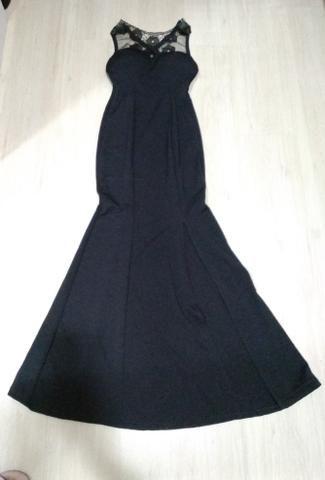 Vestido preto longo - Foto 4