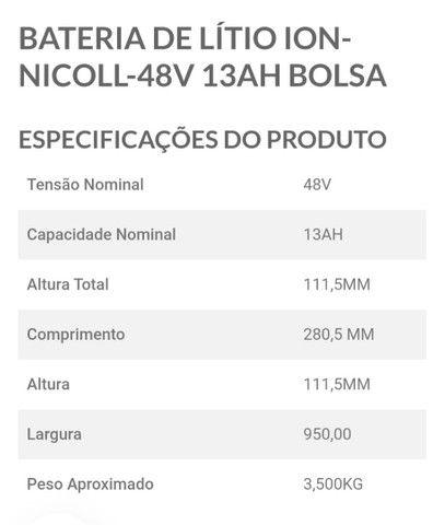 Bateria Lítio 48v 13ah Nicoll - Foto 2