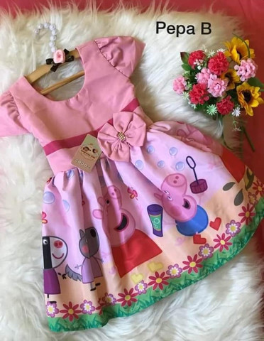 Vestido Peppa tamanho 1