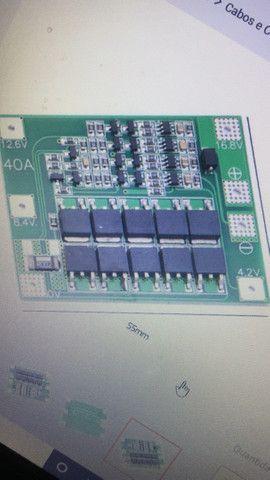 Placa BMS 4S 40Ah 16,8V vendo ou troco  - Foto 4