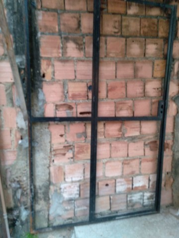 Portao de ferro sem vidro
