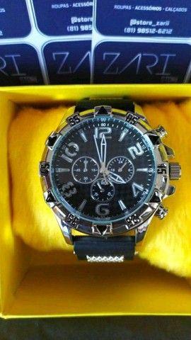 Relógio Masculino Silicone Luxo - Foto 3