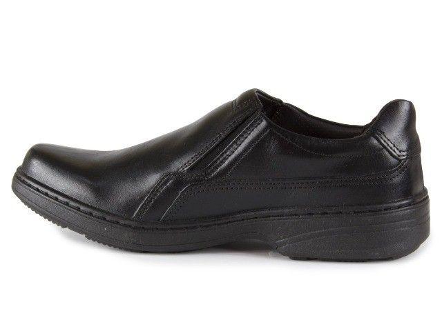 Sapato Social Masculino De Couro Pegada Preto 21206-1 N° 38 - Foto 2