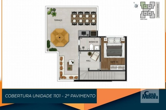 Apartamento à venda com 3 dormitórios em Santa branca, Belo horizonte cod:325034 - Foto 4