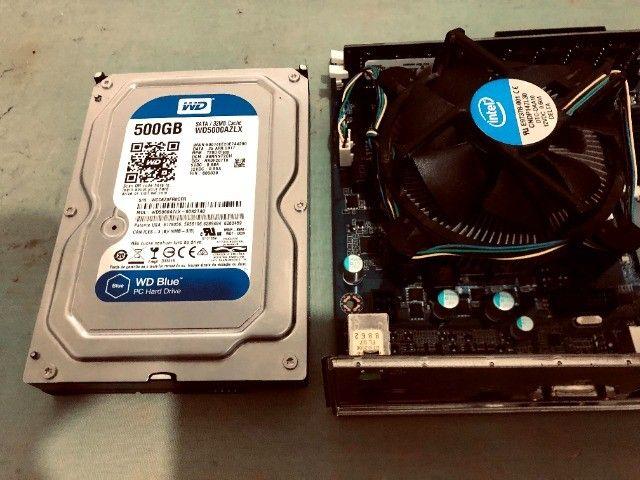 Kit placa mãe 1151+processador i3 6100+memoria ddr4 de 8gigas+hd wd 7200 de 500 gigas - Foto 6