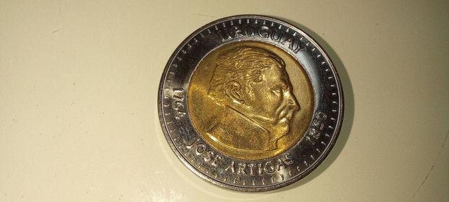 Moeda rara 10 pesos Uruguayos 2000 colecionador - Foto 2