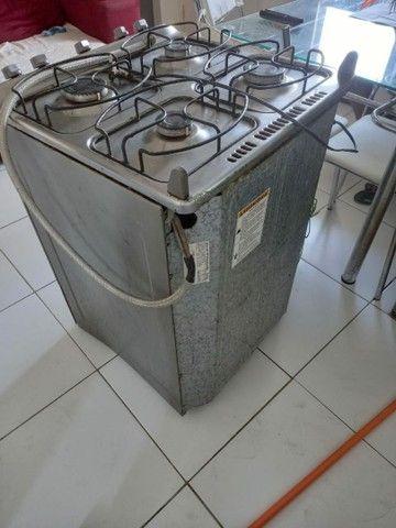 Vendo fogão inox com acendimento automático!! - Foto 4